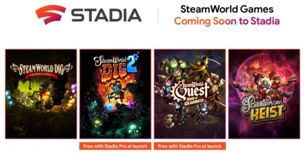 The acclaimed SteamWorld series is coming to Stadia