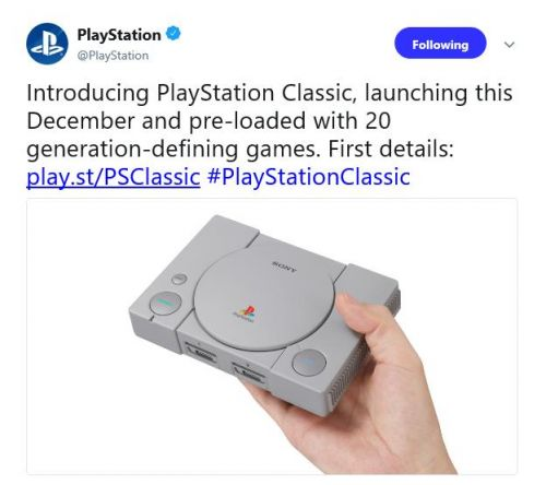 Sony joining the mini retro console game with PlayStation Classic