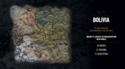Ghost Recon: Wildlands' Full Map Revealed