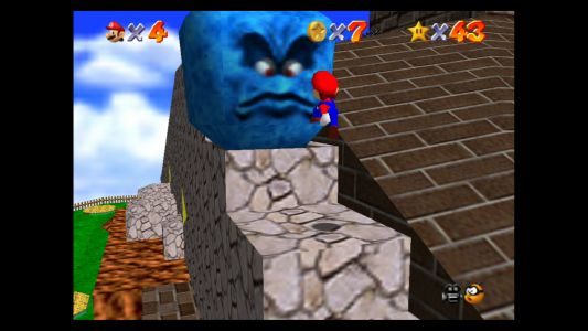 Super Mario 64: Whomp's Fortress Stars - Shoot into the Wild Blue, Blast Away the Wall and more