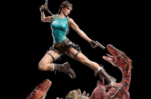 Sell some ancient treasures and you could afford this stylish Tomb Raider statue
