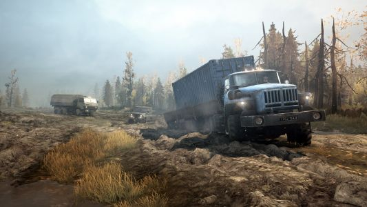 MudRunner Mobile's 'Old-Timers' expansion adds the treacherous Rocky Hills map