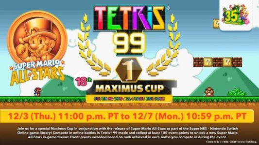 Tetris 99 Gets Super Mario All-Stars Edition Maximus Cup