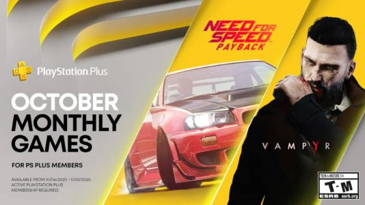PlayStation Plus Getting Need for Speed: Payback and Vampyr October 2020