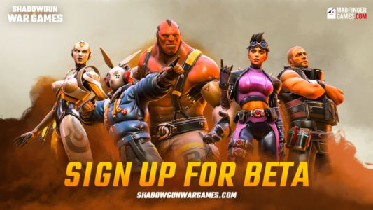 Madfinger is offering a beta sign up for Shadowgun War Games, an upcoming 5v5 battle game