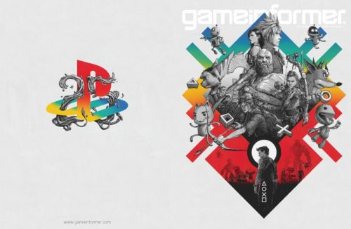 Game Informer PlayStation 25th Anniversary Art Print up for Sale