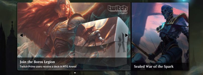 Twitch Prime subscribers are getting a free Magic: The Gathering Arena deck