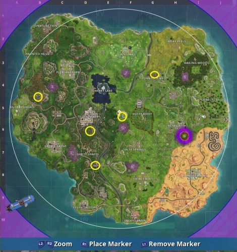 Fortnite timed trials locations