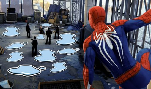 Spider-Man PS4 Puddle Stickers Added to Photo Mode, Pokes Fun at the Puddle Controversy