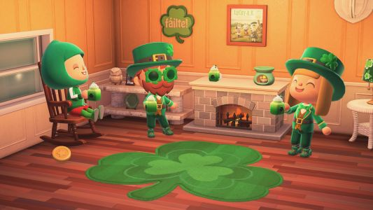 I hope I don't miss the Shamrock Soda in Animal Crossing: New Horizons before it goes away