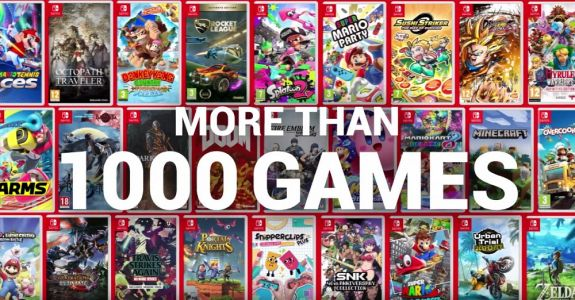 Nintendo release video to celebrate 1000 games available for Switch