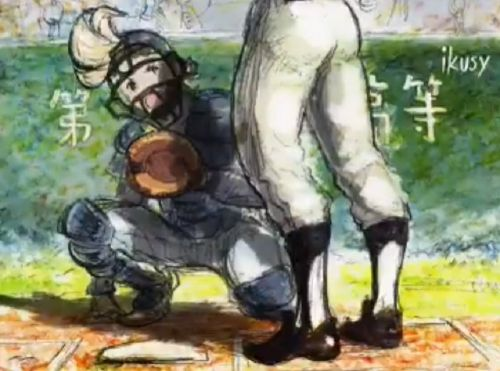 Octopath Traveler's Olberic and Bravely Default's Ringabel playing baseball is just lovely