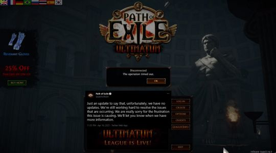 Path of Exile: Ultimatum's launch marred because of.page sizes?