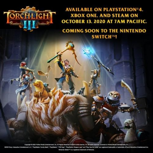 Torchlight III Hacks and Slashes Its Way to Consoles and PC in October 13th