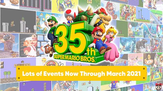 Nintendo reveals multiple Super Mario 35th anniversary events, including Nintendo NY merch, themed Splatoon 2 Splatfest, and more