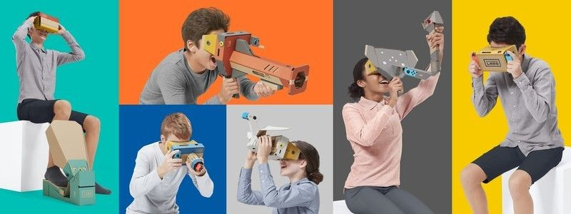 Do you have to hold the Nintendo Labo VR Kit while playing it?