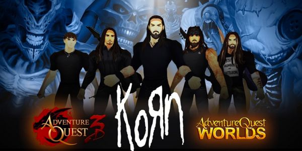 Korn is Playing Live Concert in AdventureQuest 3D   Game Rant