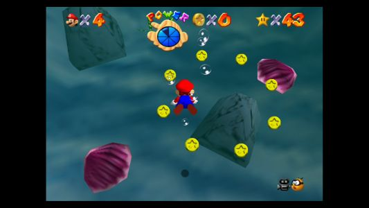 Super Mario 64: Jolly Roger Bay Stars - Plunder in the Sunken Ship, 100 Coins and more