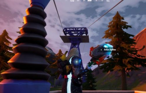 Fortnite: Chapter 2 Season 4 - Ride a Zipline from Retail Row to Steamy Stacks