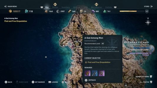 Assassin's Creed Odyssey: Artifact locations - how to seal the gates of Atlantis