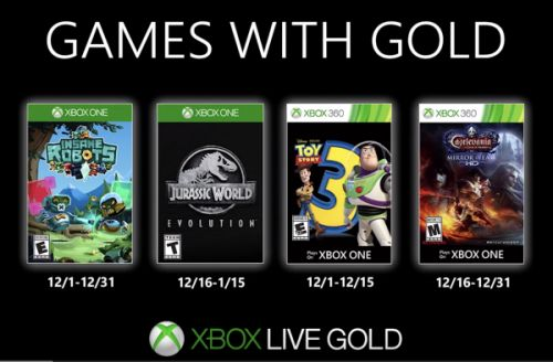 December Games with Gold - Dracula, Dinosaurs + More