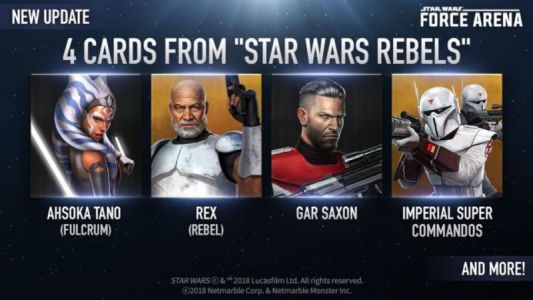 Star Wars: Force Arena Adds Fulcrum Ahsoka And Rebel Rex