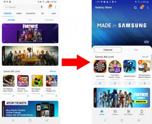 Samsung updates Galaxy Apps with OneUI, changes name to Galaxy Store