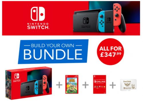 Black Friday build your own Nintendo Switch bundle lets you choose from Breath of the Wild, Super Mario Odyssey, Skyrim, more