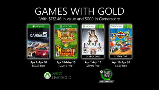 April 2020 Games with Gold Announced