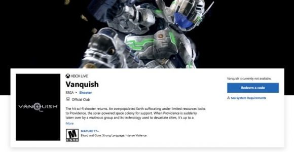 Report: Vanquish and Bayonetta Remasters Seemingly Leaked on Online Storefront