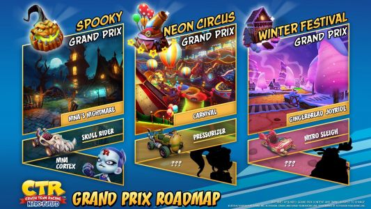 Crash Team Racing Nitro-Fueled Grand Prix seasons four, five, and six announced