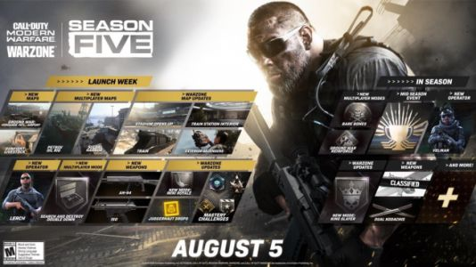 Call of Duty Modern Warfare and Warzone Season Five Roadmap Details Map Changes, Mysterious 'Mid-Season Event'