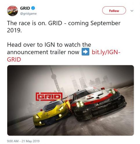 GRID making comeback as Codemasters reboots series