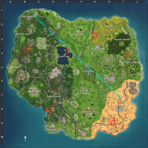 Fortnite: shoot a clay pigeon at different locations - where are all the clay pigeons?
