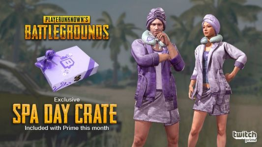 Twitch Prime Members, Relax on the Battlegrounds with a PUBG Spa Day Crate!