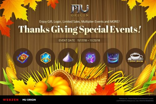 MU Origin is holding a Thanksgiving rewards bonanza