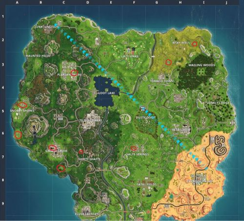 Fortnite: Search Jigsaw Puzzle pieces in basements - locations with map