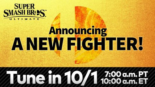 Nintendo is revealing the next Smash Ultimate fighter tomorrow morning, watch it here