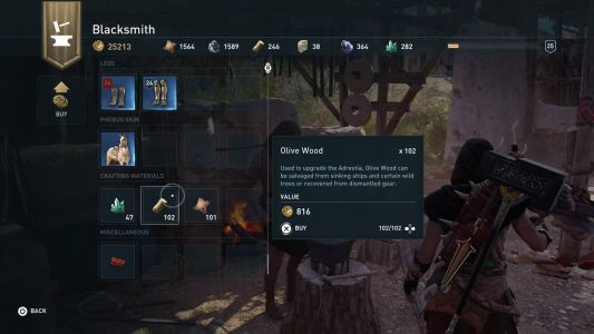 Assassin's Creed Odyssey Resources Guide: Where to find Olive Wood, Obsidian Glass, Precious Gems