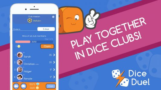 Dice Duel is an addictive take on Yahtzee, and it's just been updated with a Dice Club feature