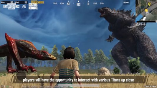 PUBG Mobile's 1.4 update guest stars Godzilla and King Kong