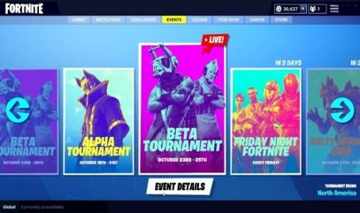 Fortnite Update 6.10 Cranks Up the Competition with the New Events Tab