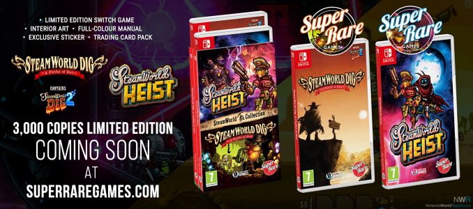 SteamWorld Dig & SteamWorld Heist to Receive Limited Physical Editions For Nintendo Switch