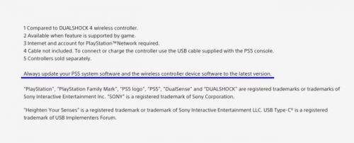 New Info on PlayStation's Website Reveals DualSense Will Receive Software Updates