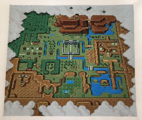 It took over 57,000 stitches to make this baller Zelda: A Link to the Past map